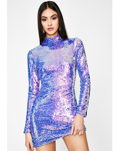 Hologram Star Sequin Dress
