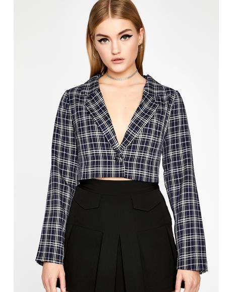 Wavy Add It Up Cropped Blazer