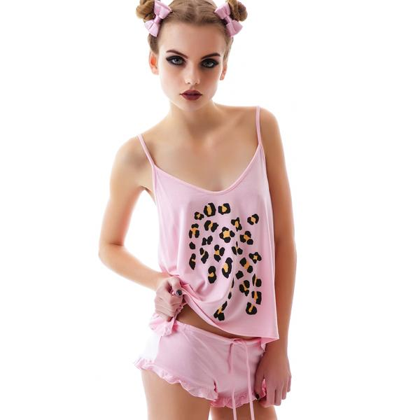 Wildfox Couture Leopard Print Cami Set