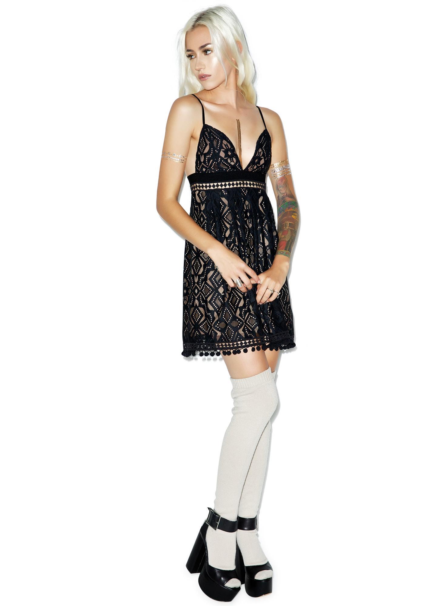 For Love & Lemons Florence Mini Dress