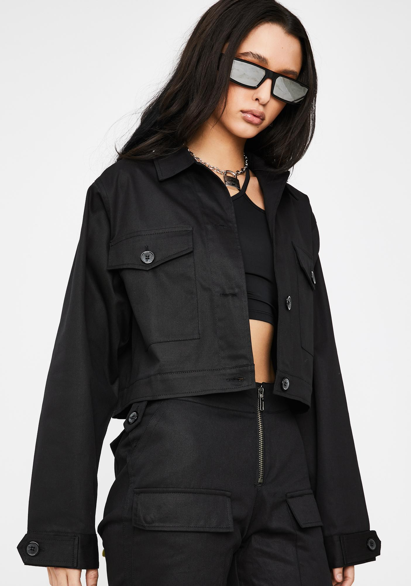 Poster Grl Late Meetings On Rodeo Utility Jacket