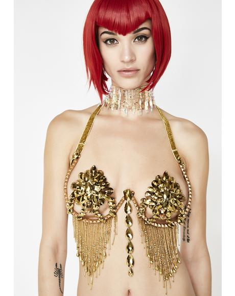 LED Gold Samba Bra