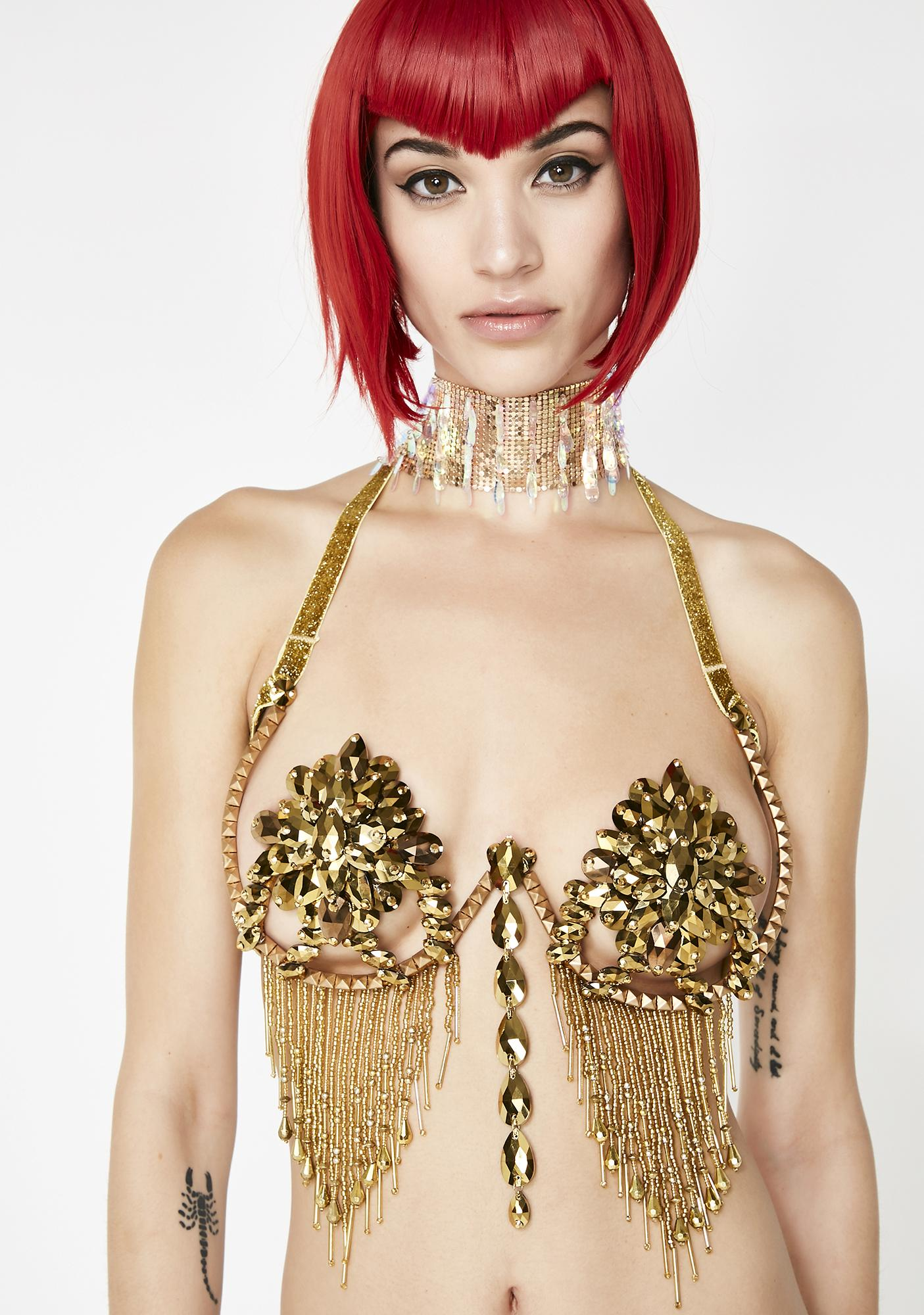 Dollyiance LED Gold Samba Bra