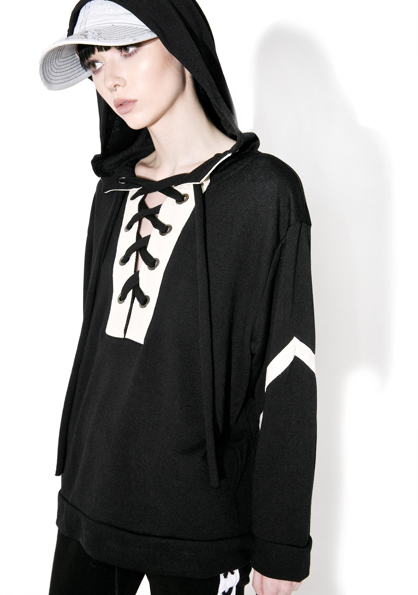 Foul Play Lace-Up Hoodie