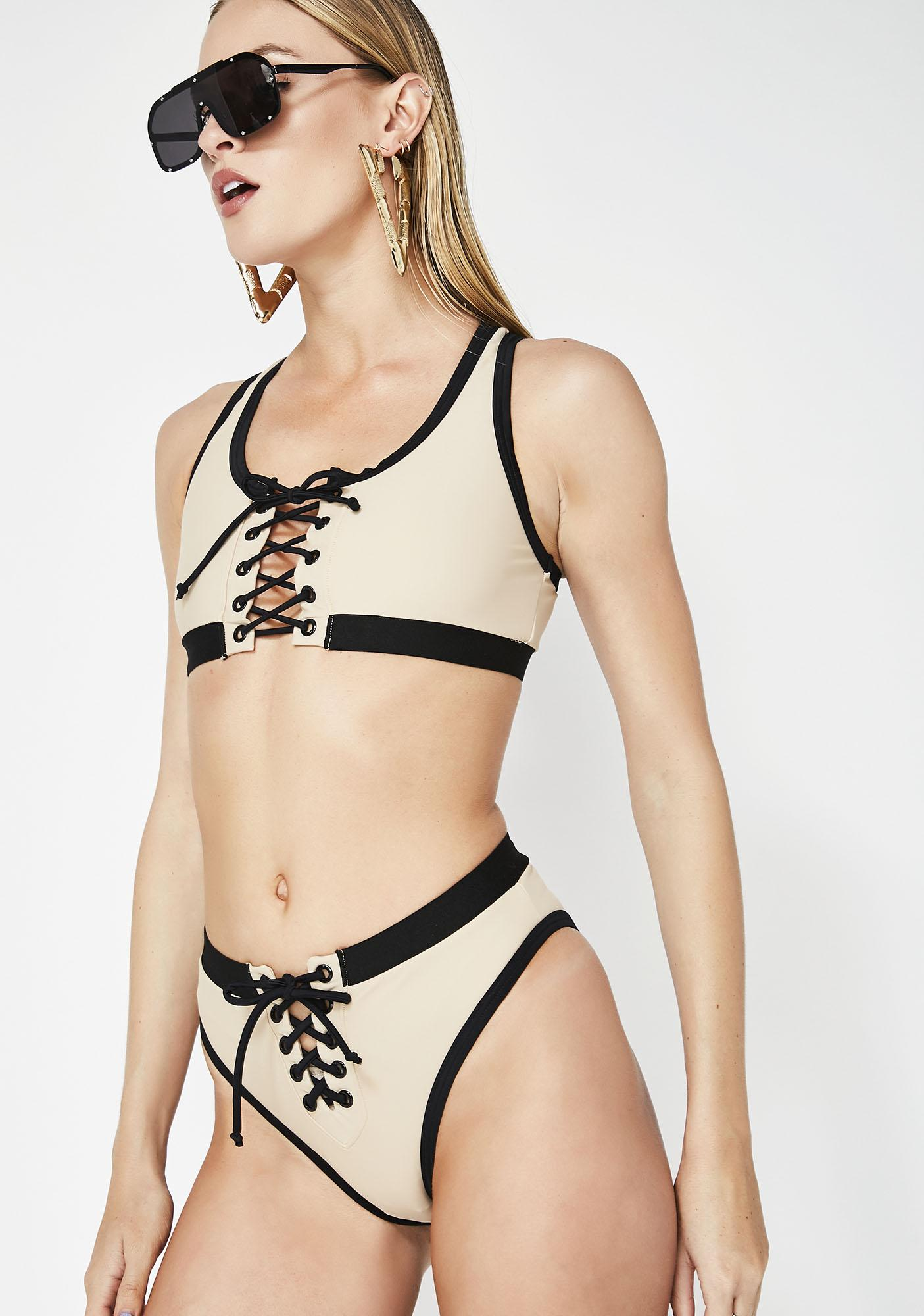 Poster Grl Touchdown Mami Lace-Up Bikini Set