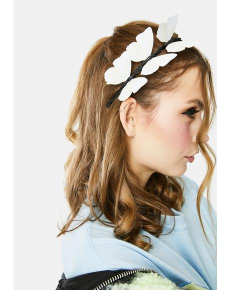 Wind Swept Butterfly Headband