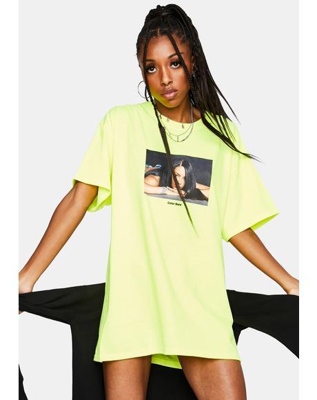x Aaliyah Neon Graphic Tee