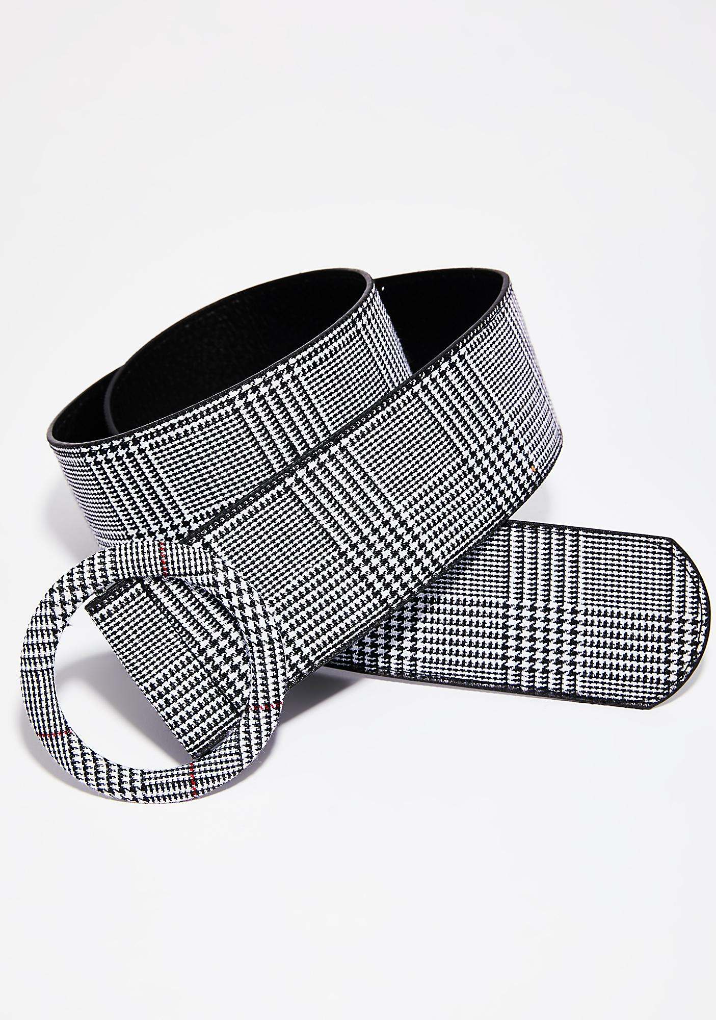 Keep In Touch Plaid Belt