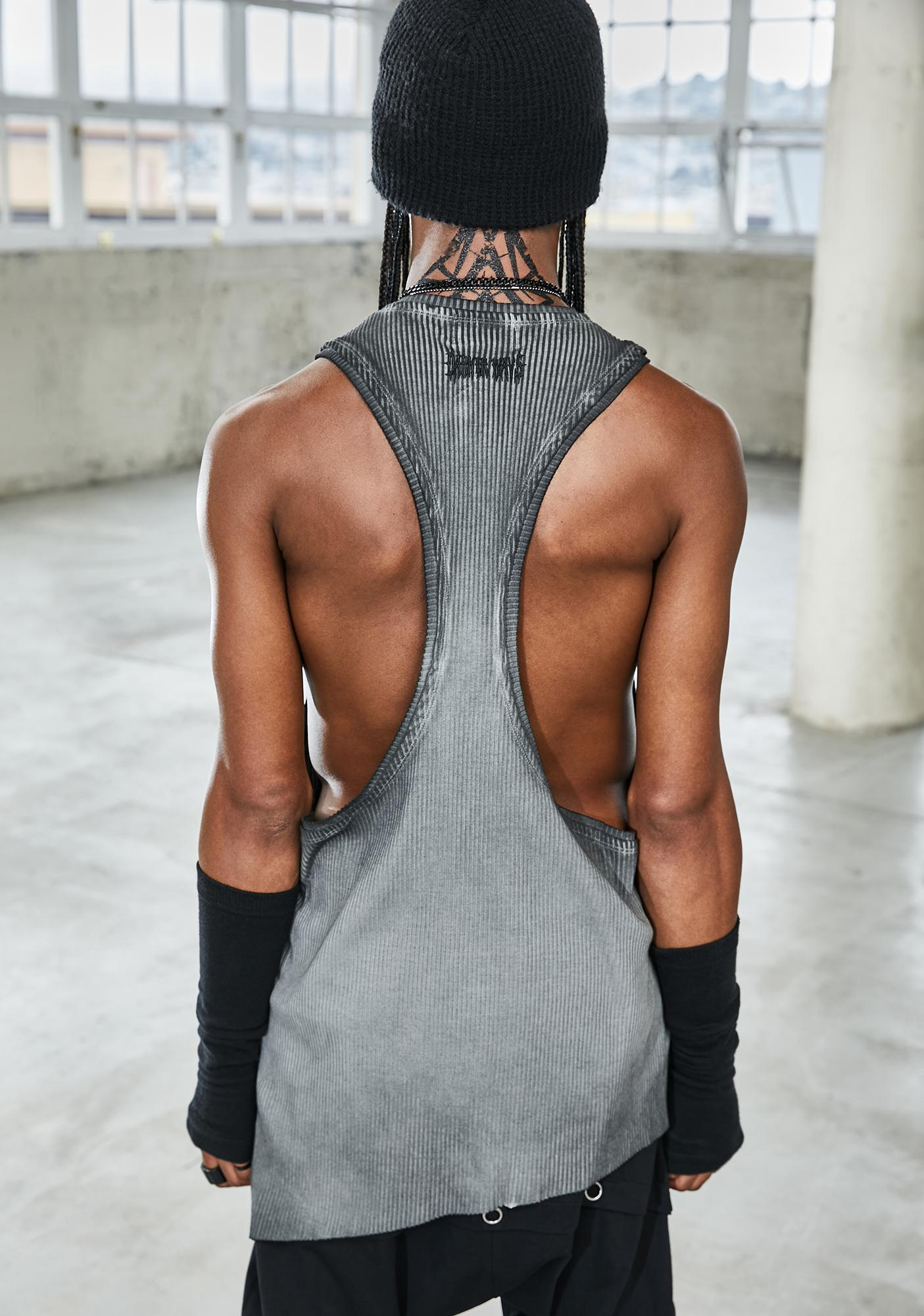 DARKER WAVS Bassline Worn Wash Muscle Tank