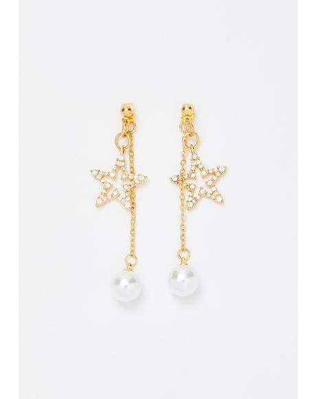 Star Stunner Drop Earrings
