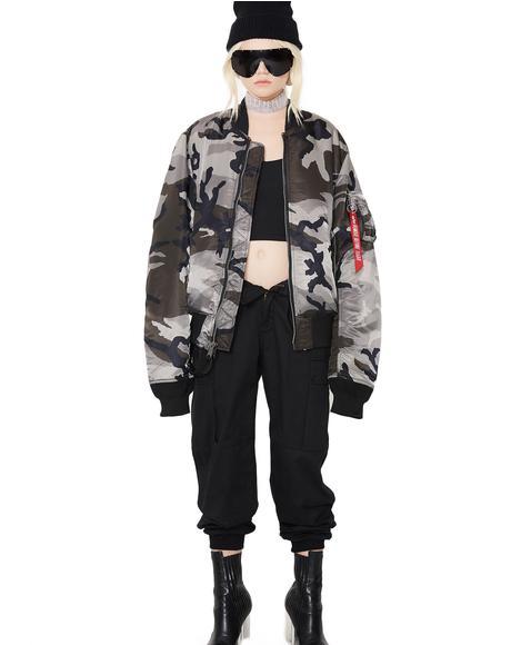 MA-1 Slim Fit Camo Flight Jacket
