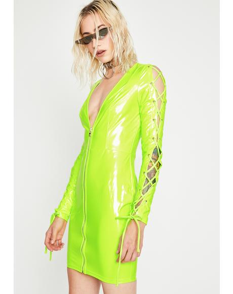 Nuclear Haute Hellcat Vinyl Dress
