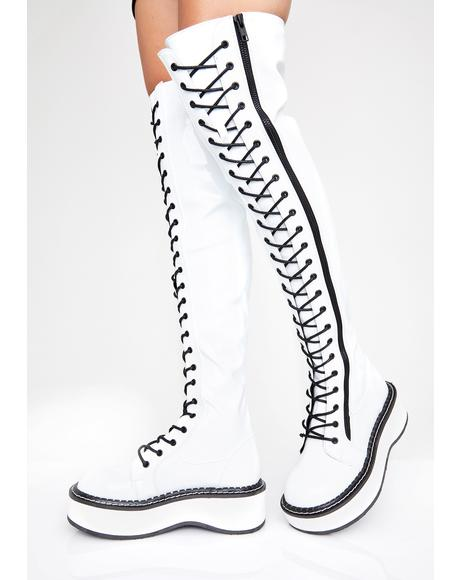 Icy Grand Stand Knee High Boots