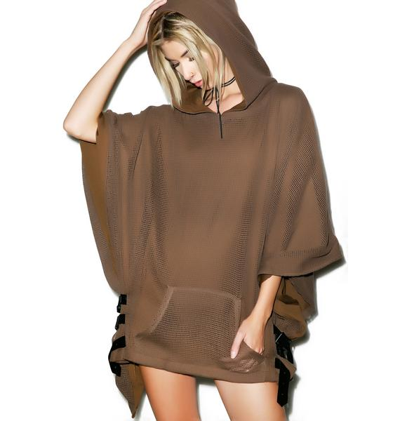 Lip Service Shelter Hooded Poncho