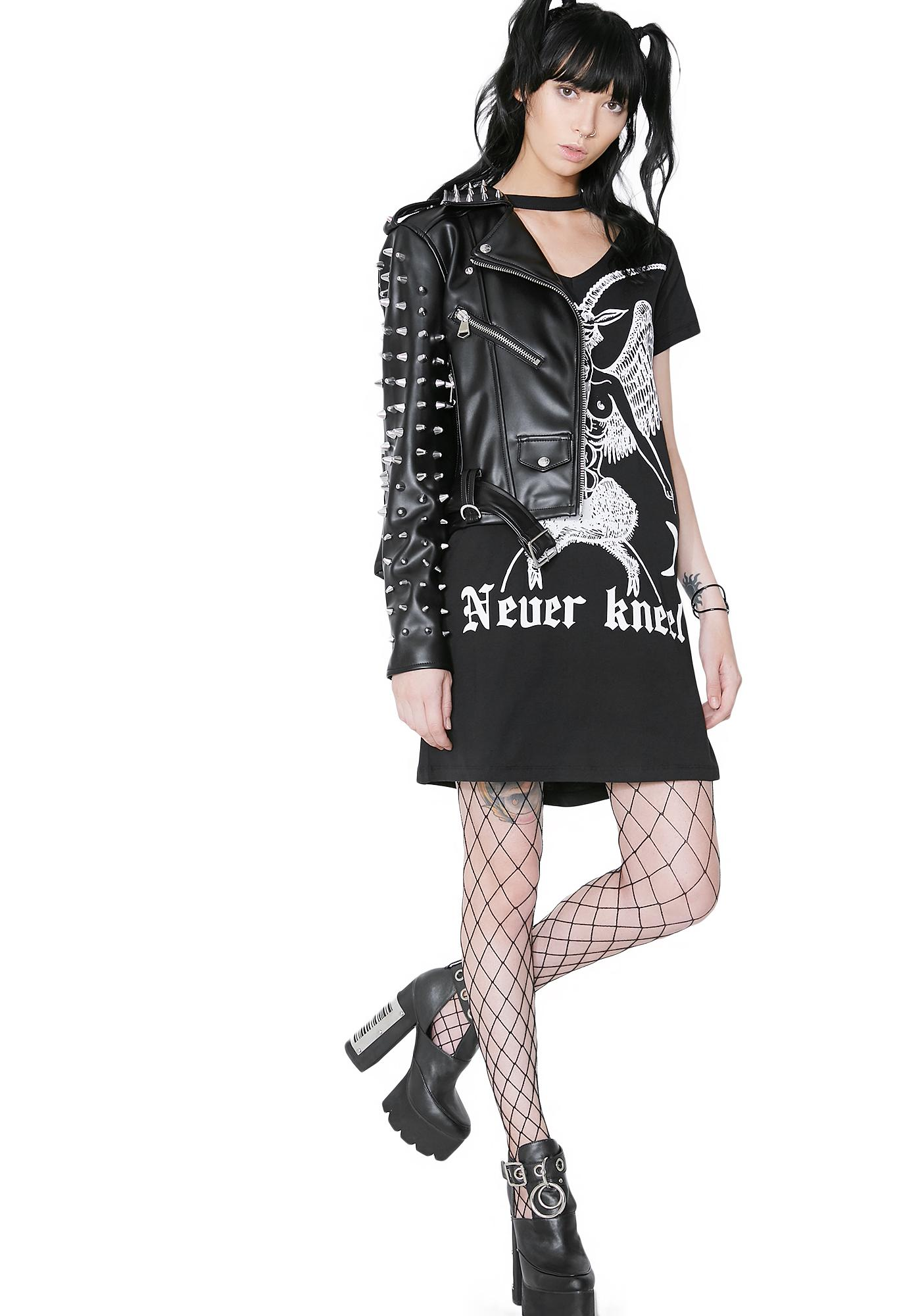 Disturbia Never Kneel Tee Dress