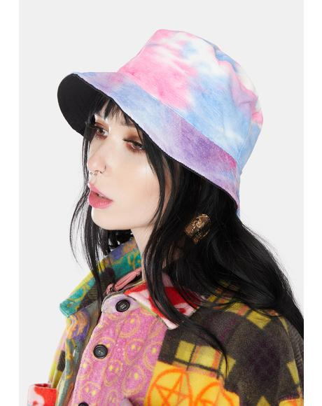 Candy Back In The Groove Reversible Tie Dye Bucket Hat