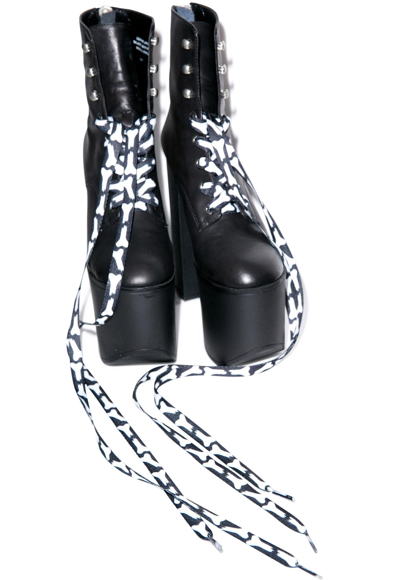 Sourpuss Clothing Broken Bones Laces