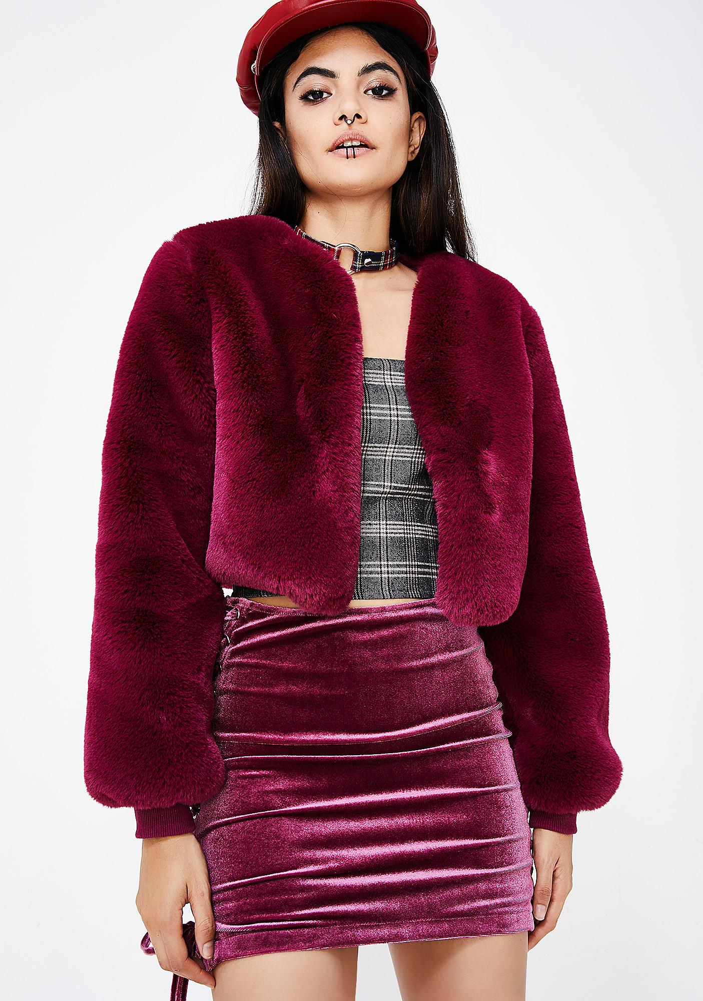 692c45abc74d8 Faux Fur Cropped Jacket | Dolls Kill