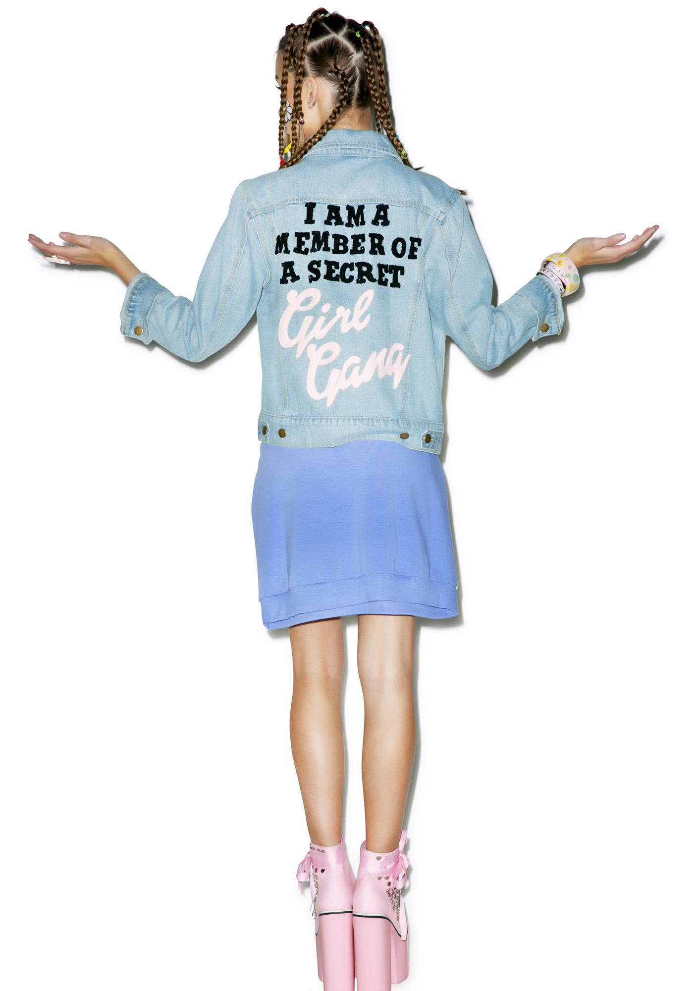 High Heels Suicide Girl Gang Denim Jacket