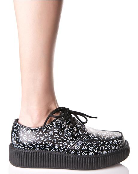 Astrological Leather Viva Creepers