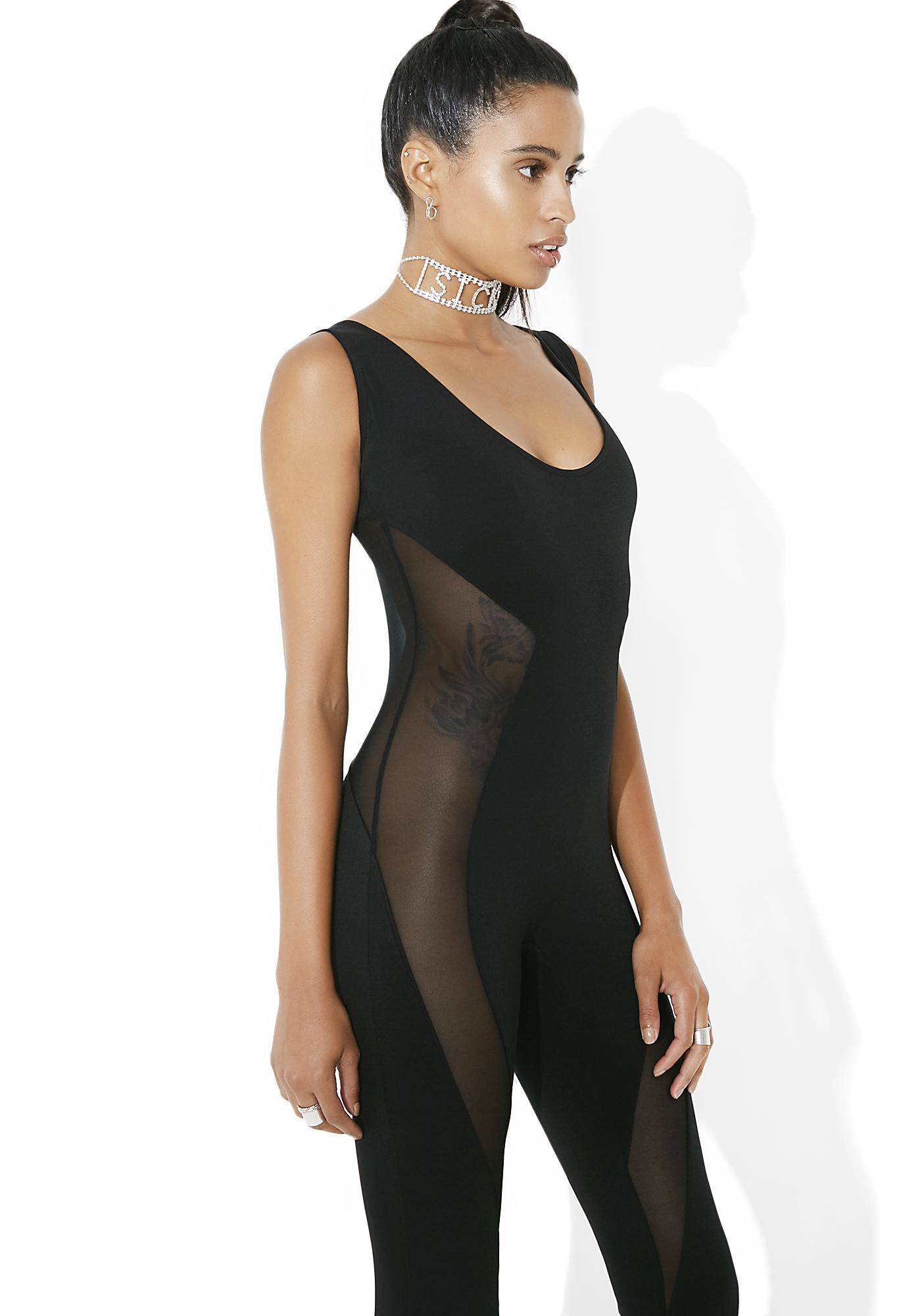 Kiki Riki Side Eye Mesh Panel Jumpsuit