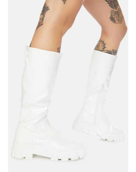Karma Chunky Sole Knee High Boots