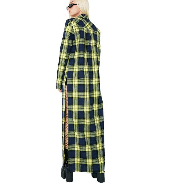 Current Mood Band Of Misfits Flannel Duster