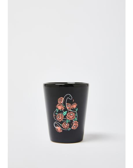 Floral Snake Shot Glass