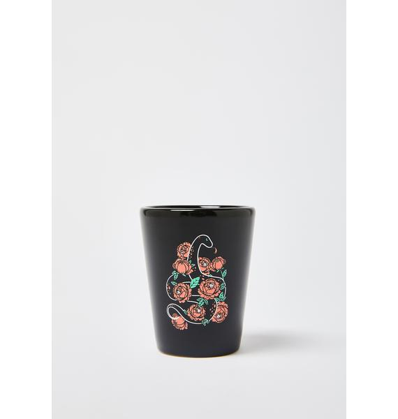 Femfetti Floral Snake Shot Glass