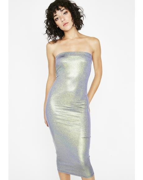 Stay Plotting Holographic Dress