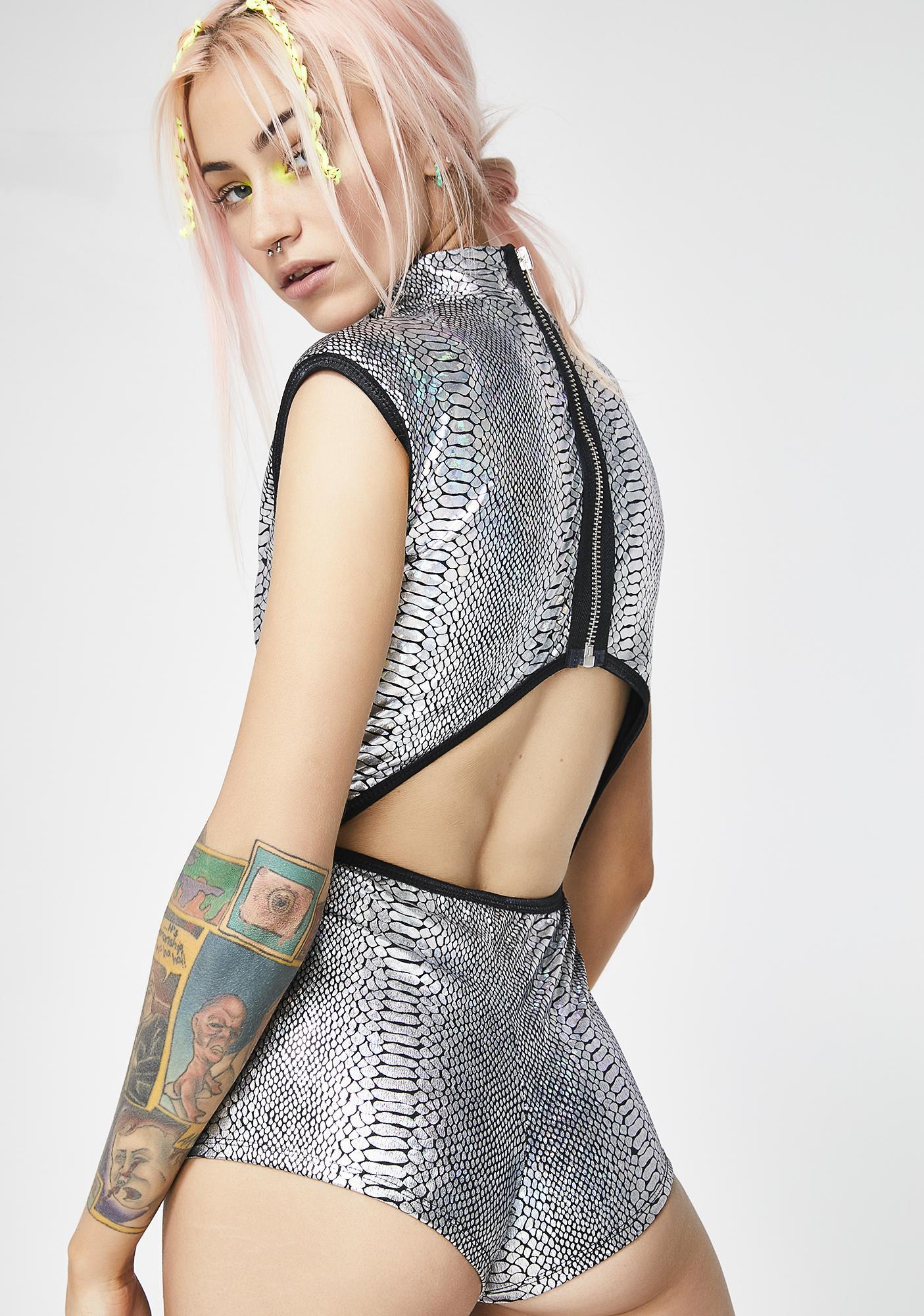 Club Exx Taste My Poison Hologram Bodysuit