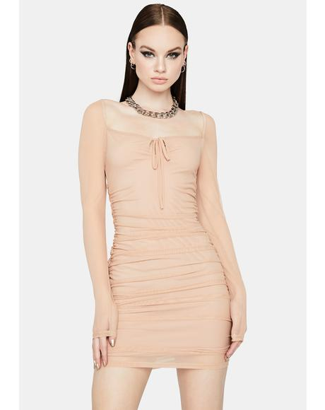 Head Turner Ruched Bodycon Dress