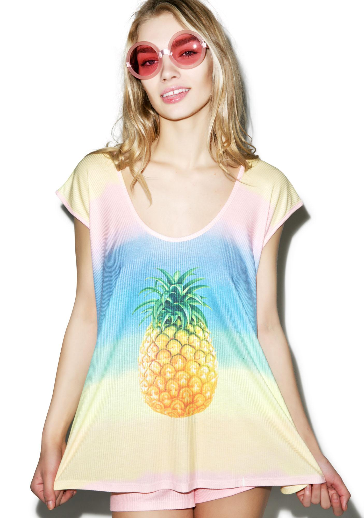 Wildfox Couture Malibu Pineapple Tulum Tunic