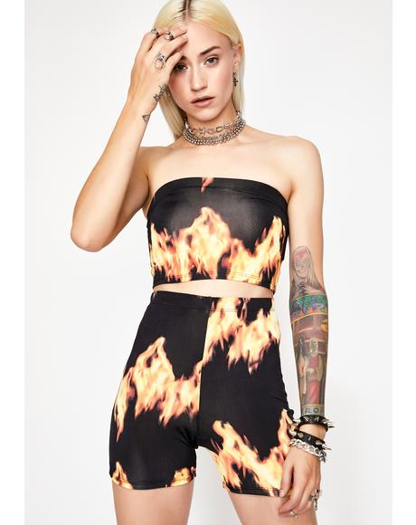Rave Gal Hell Flames Set