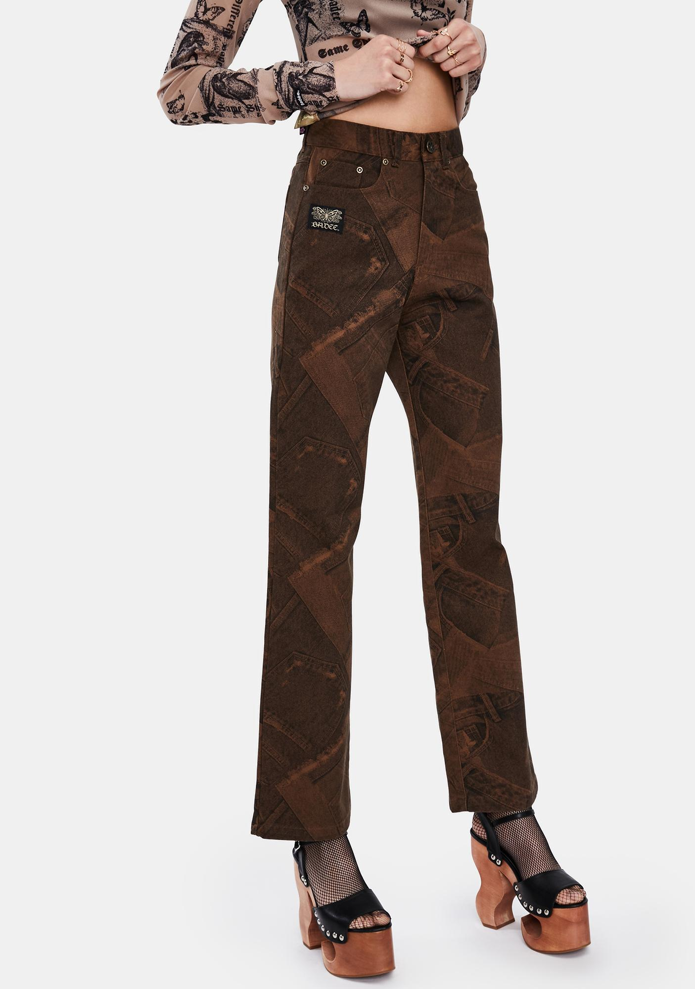 BADEE Patchwork Denim Pants