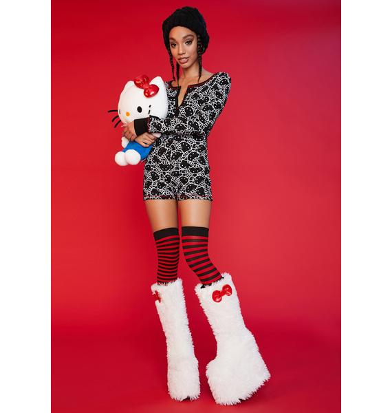 Dolls Kill x Hello Kitty Shadow Dimension Thermal Onesie