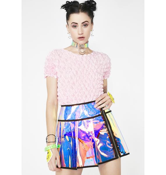 Current Mood Cosmic Outlaw Pleated Skirt