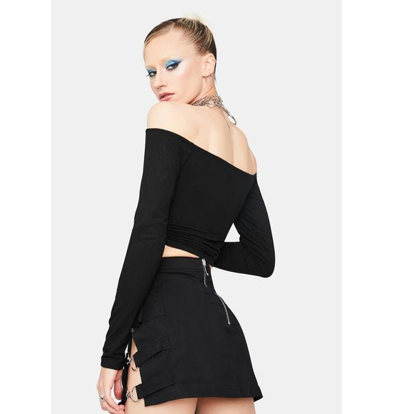 What You Know Off The Shoulder Crop Top