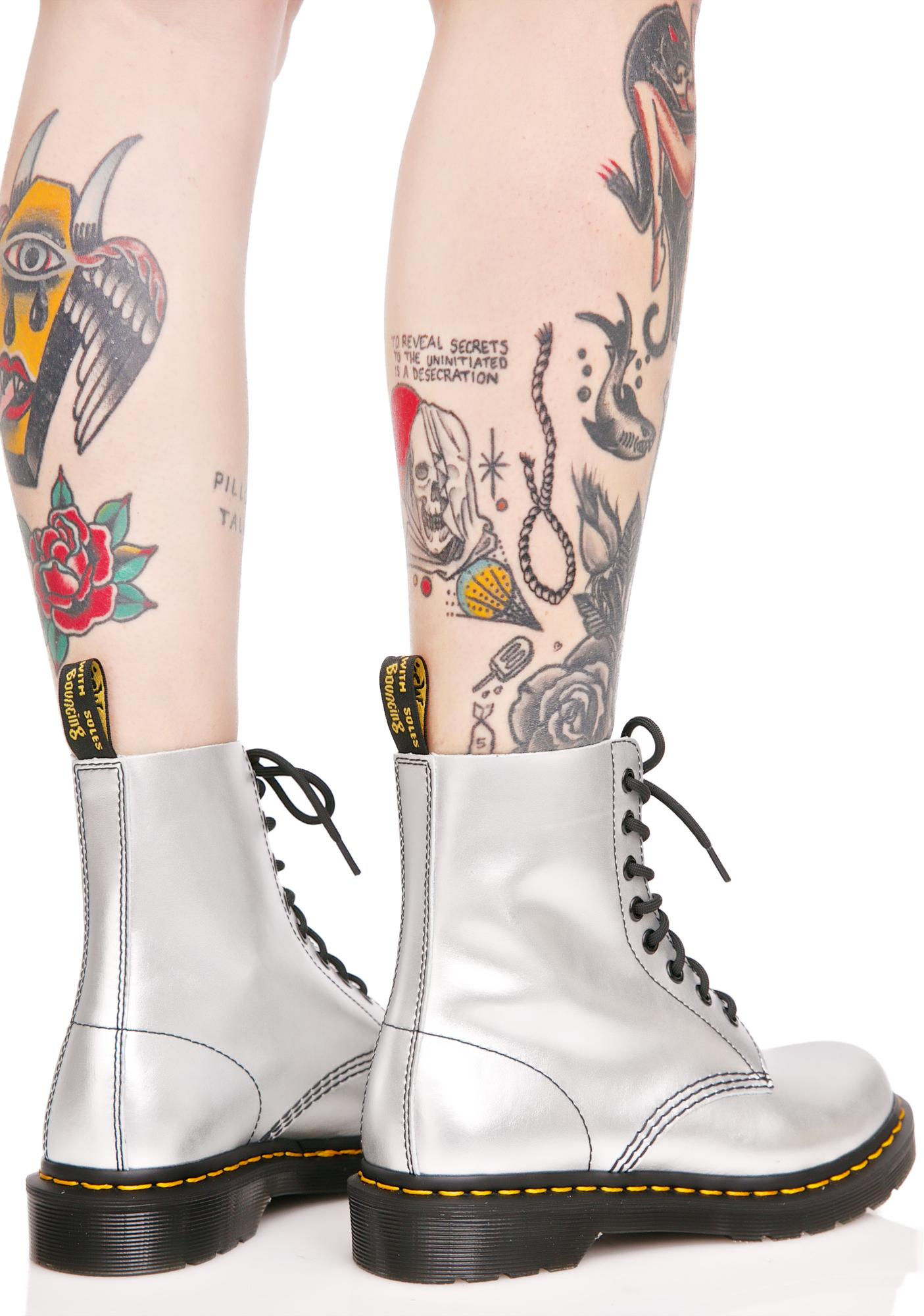 Dr. Martens Silver 1460 8 Eye Boots