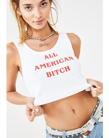 All American Bish Cropped Tank