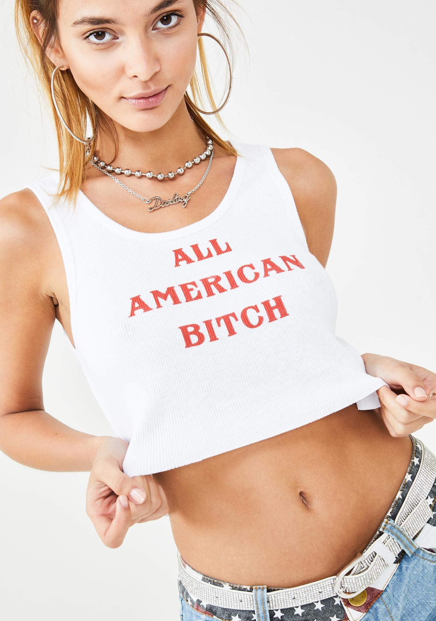 not another label All American Bish Cropped Tank
