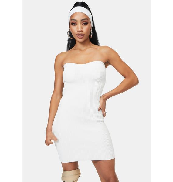 Bliss Pop To The Top Sweater Tube Dress