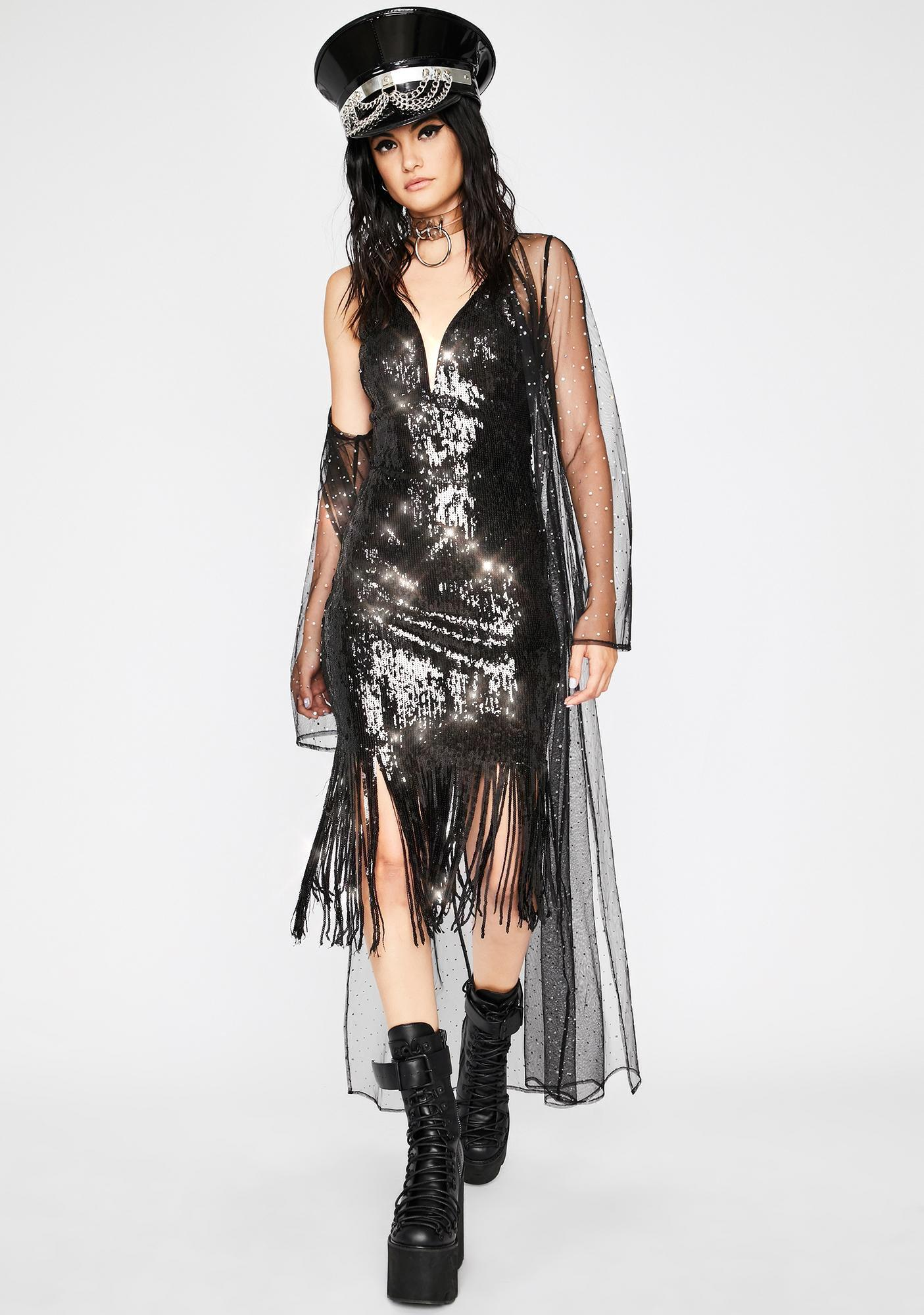 Night Groover Sequin Dress