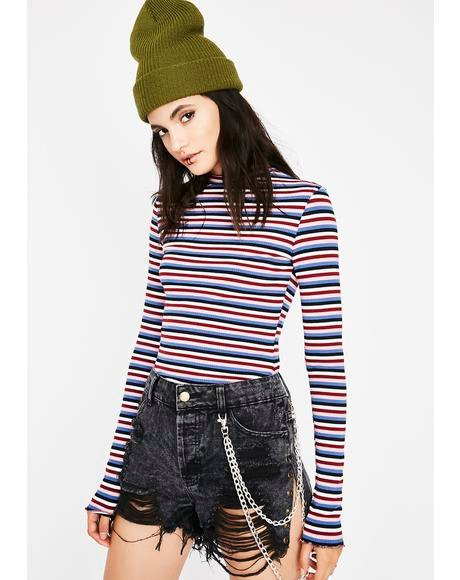 Break 'Em Off Somethin Striped Top