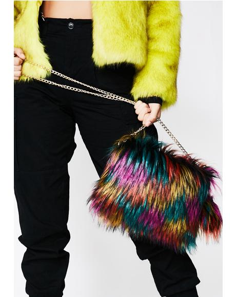Arctic Jewel Pom Pom Purse