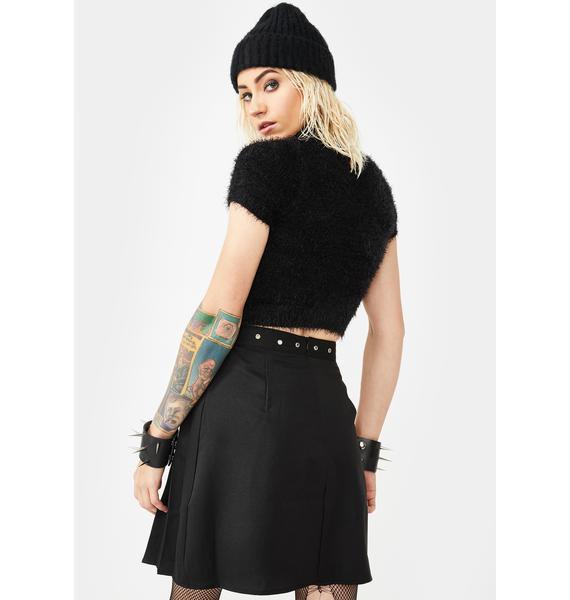 Glamorous Pleated Buckle Mini Skirt