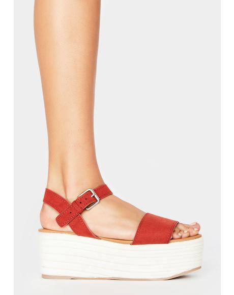 Sienna Out With A Bang Platform Sandals