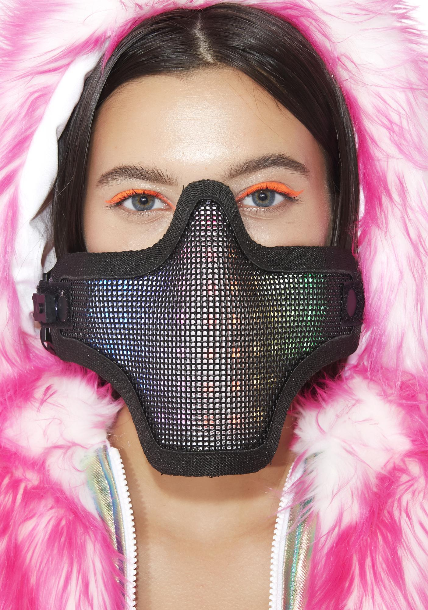 Up All Night Light-Up Face Mask