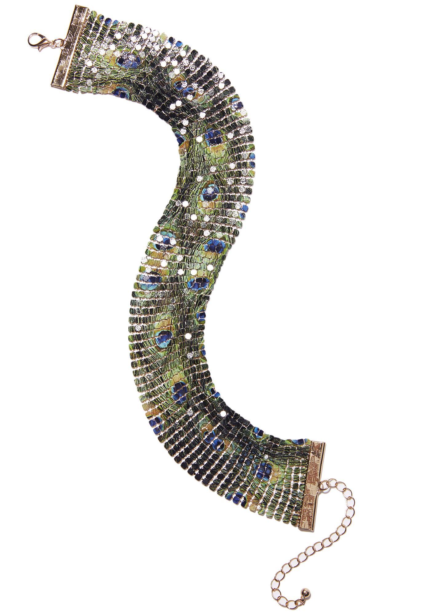 Peacock Chainmail Choker