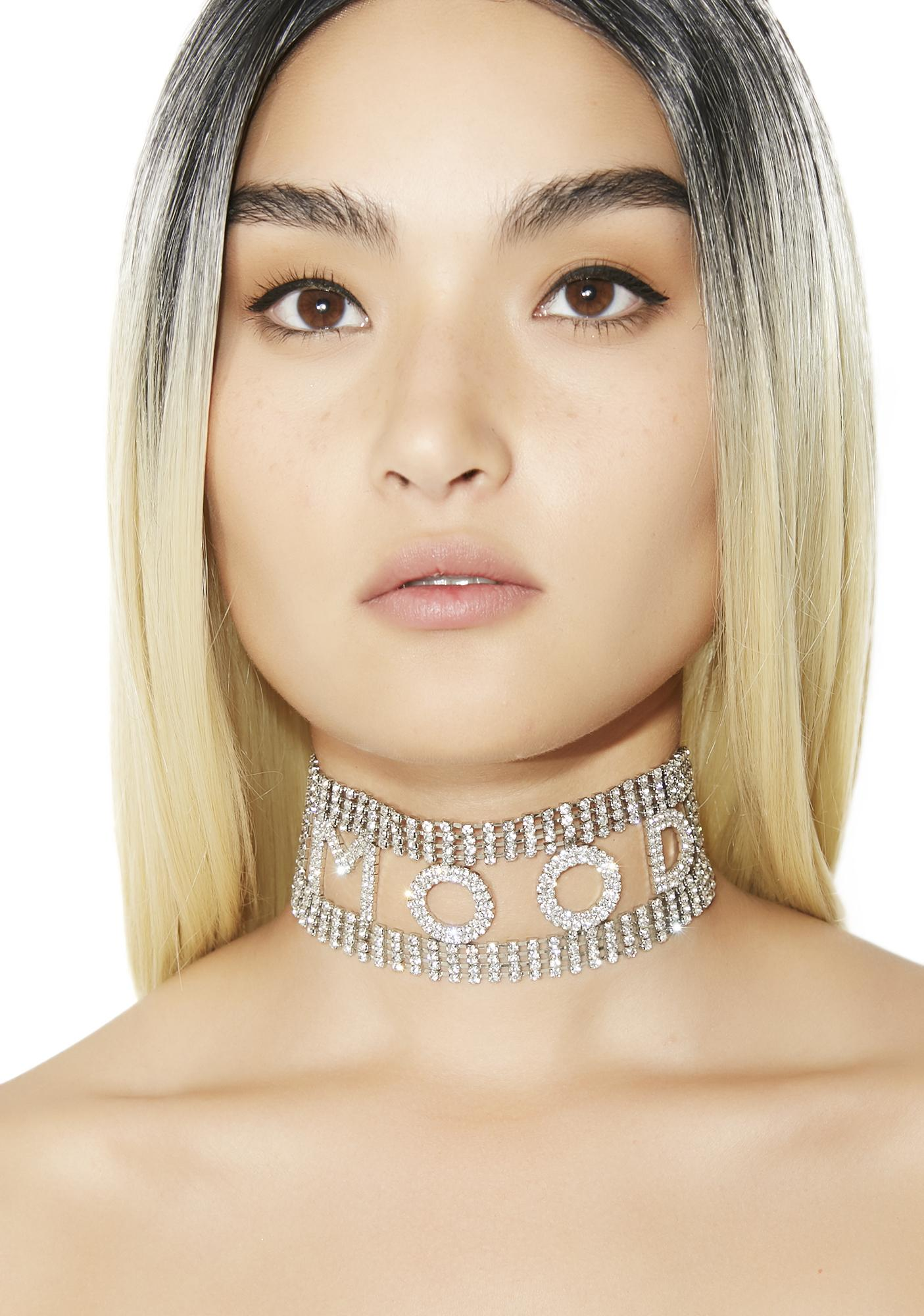 Ur So Complicated Rhinestone Choker